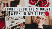 COURT REPORTING STUDENT VLOG// redoing my office and school work.