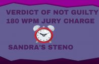 180 WPM JURY CHARGE ON VERDICT OF NOT GUILTY