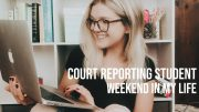 COURT REPORTING STUDENT// WEEKEND IN MY LIFE VLOG
