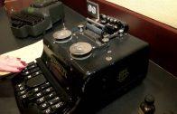 Old school stenography machines