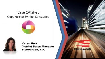 Steno Savvy: CATalyst V19 and Oops Format Symbol Categories